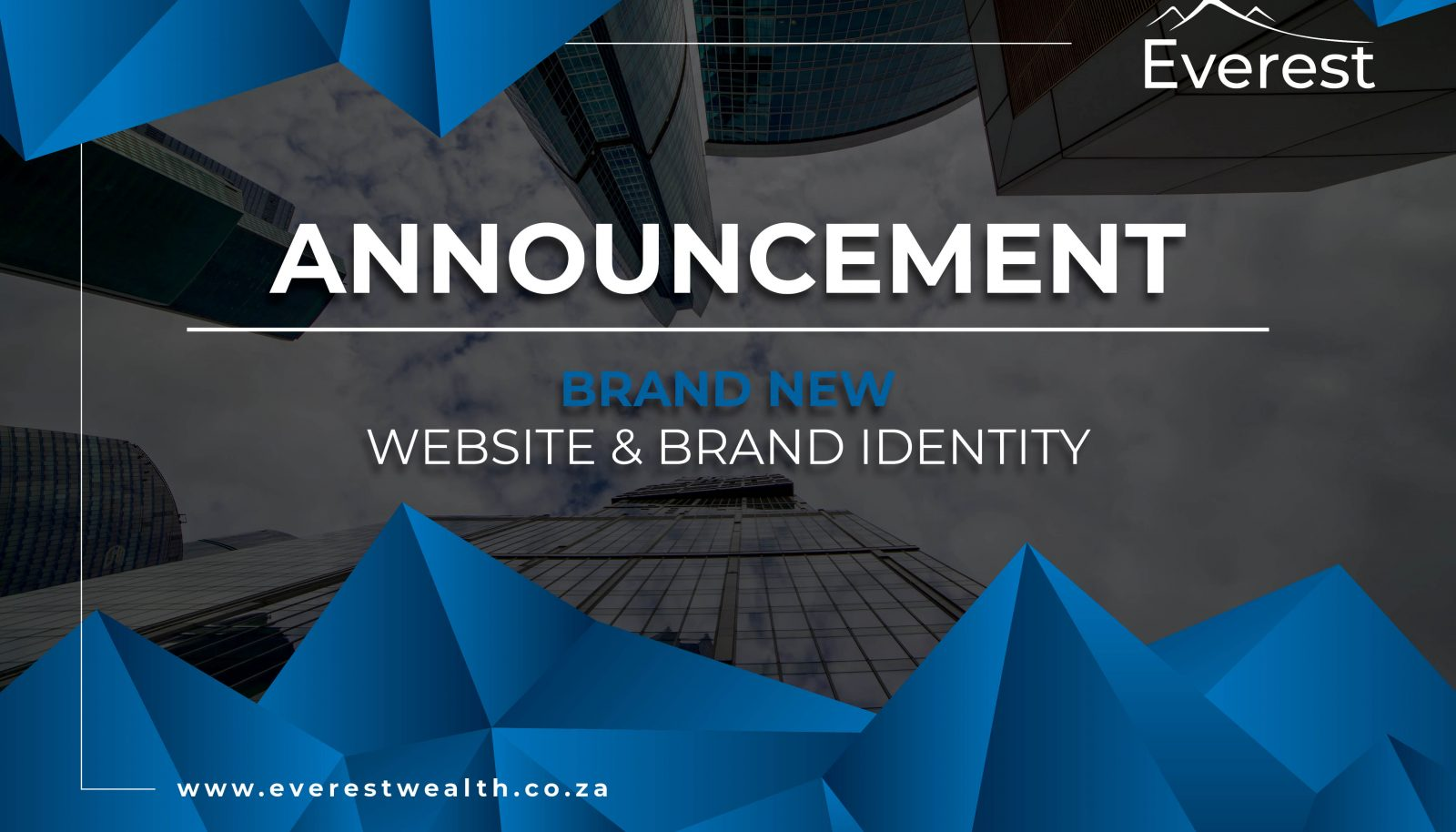 Announcement of New Website and Brand Identity